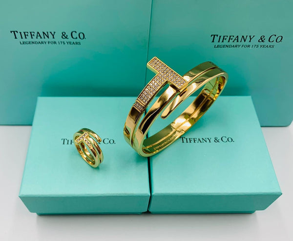 Tiffany & Co. Designer Bracelet with Ring with Box