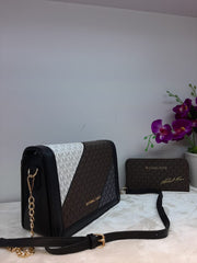 Michael Kors Multicolor Flip Handbag + Pouch Clutch