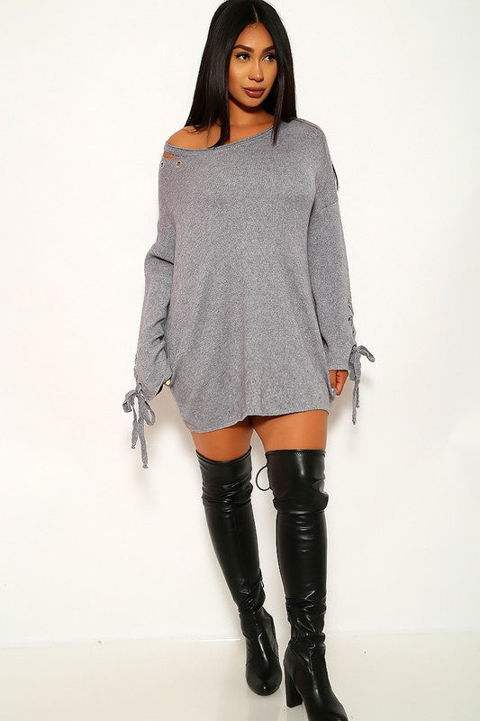 Never Enough Oversize Grommet Detail Sweater