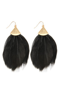 Feather Metal Hook Earring