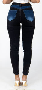 Double Up Denim High Rise Skinny Jeans