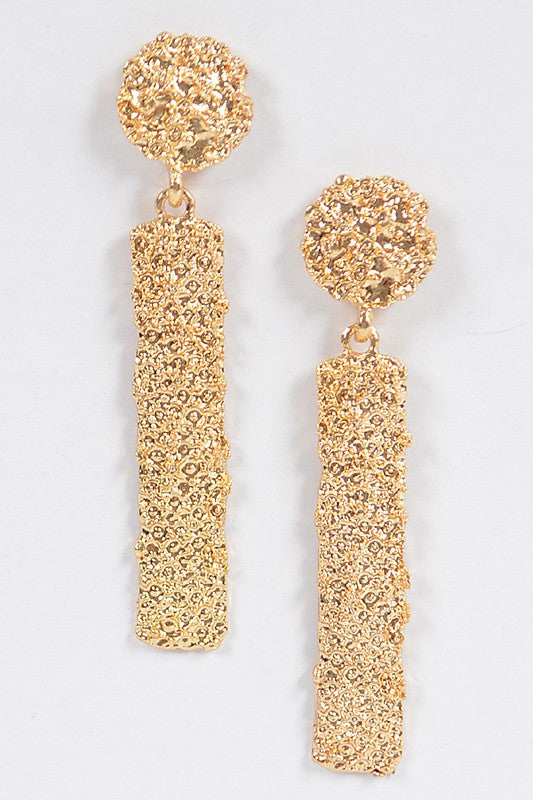 Metal Glitter Bar Earring