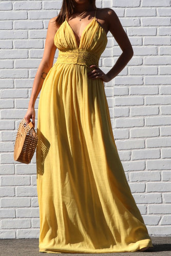 Canary Style Sleeveless Woven Maxi Dress
