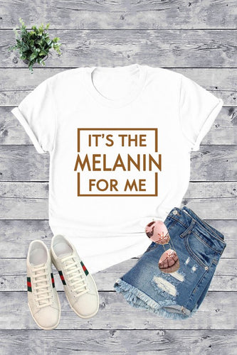 It's The Melanin For Me V Neck T-Shirt - Plus