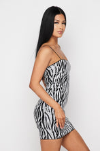 Jungle Queen Zebra Sequin Mini Dress