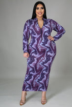 Purple Rain Maxi Stretch Dress - Plus