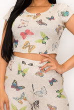 Away With Me Butterfly Print Biker Short Set