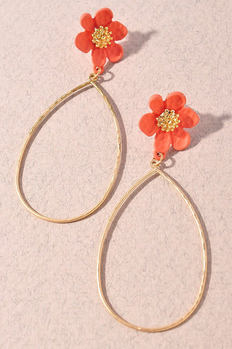 Flower Hoops Earrings
