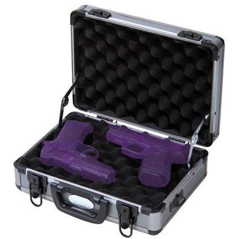 Aluminum Framed Two Pistol Case