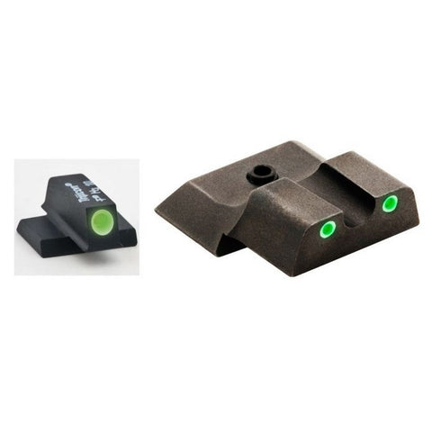 Smith & Wesson Tritium I-dot Set, Green White Outline, Green Rear - M&p Shield
