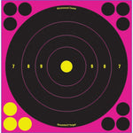 Shoot N C Bull's-eye Pink Reactive Targets