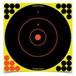 "Shootnc Self-adhesive Targets 12"" Bull's-eye, 12 Pack"