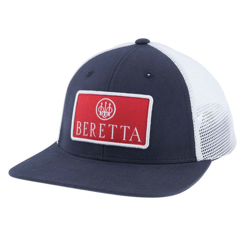 Beretta Flat Bill Patch Trucker - Navy-white