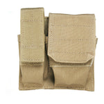 Cuff-mag-flashlight Pouch - Usa Molle, Coyote Tan