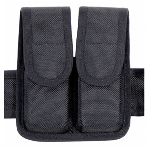 Double Mag Pouch (double Row) Cordura - Black, 9mm-.40 Cal-.45 Cal