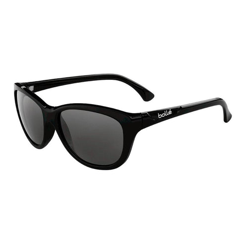 Greta Ladies Sunglasses, Black Shiny Frame, Polarized Tns Grey Lens