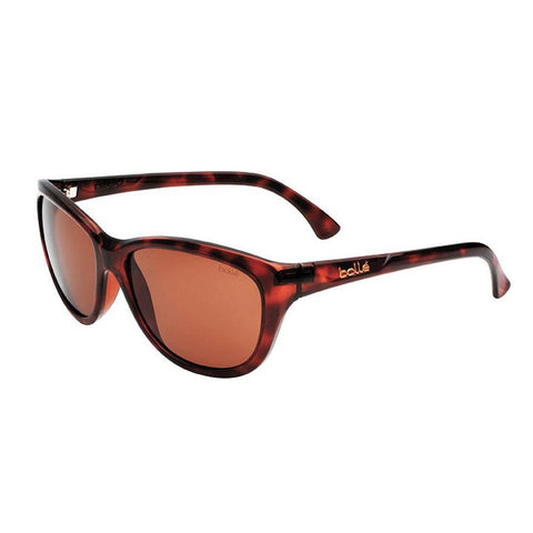 Greta Ladies Sunglasses, Tortoise Shiny Frame, Polarized A-14 Amber Lens