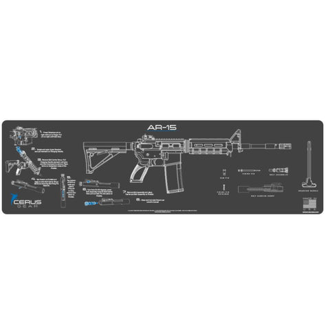 Ar-15 Instructional Magnum Xxl Promat - Charcoal Gray-cerus Blue