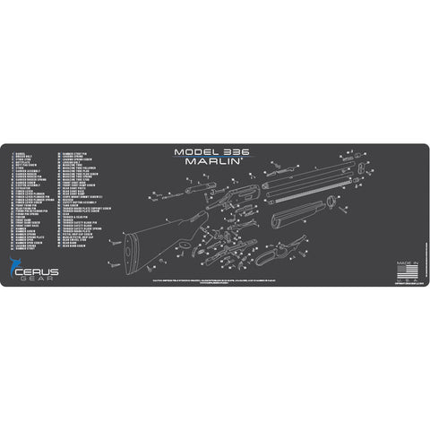 Marlin Model 336 Schematic Rifle Promat - Charcoal Gray-cerus Blue