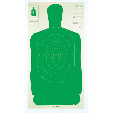 "Le Targets - Green Silhouette, 24"" X 45"", (100 Pack)"