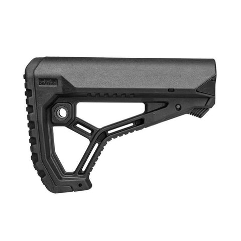 Ar15-m4 Buttstock For Mil-spec And Commercial Tubes - Matte Black