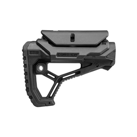 Ar15-m4 Buttstock With Adjustable Cheek-rest For Mil-spec And Commercial Tubes - Matte Black