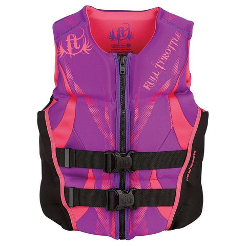Hinged Life Vest, Rapid Dry, Flex Back, Women, Medium, Purple