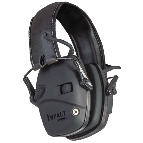 Impact Sport Electric Earmuff, Black - Nrr 22 Db