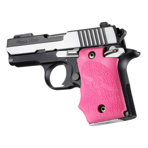 Sig Sauer P938 Ambi Safety Rubber Grip With Finger Grooves Pink