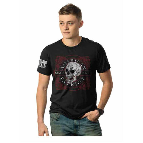 American Patriot Skull T-shirt - Black, Small