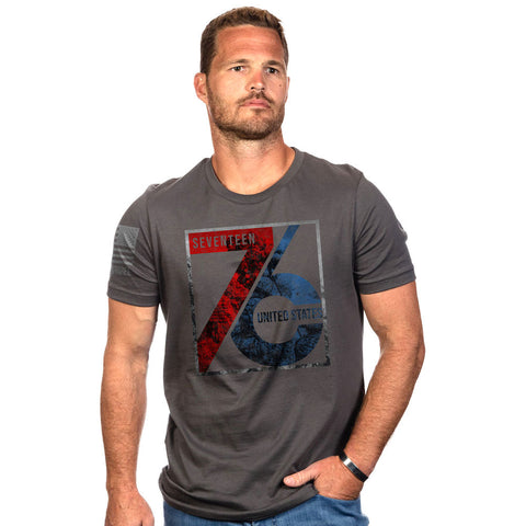 American Patriot 1776 T-shirt - Heavy Metal, Large