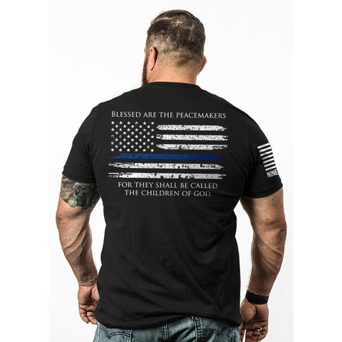 Thin Blue Line-tshirt Black 3xl