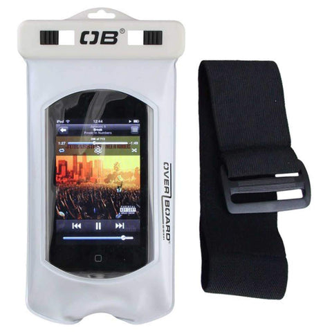 White Pro-sport Waterproof Mp3 Case With Sports  Arm Strap