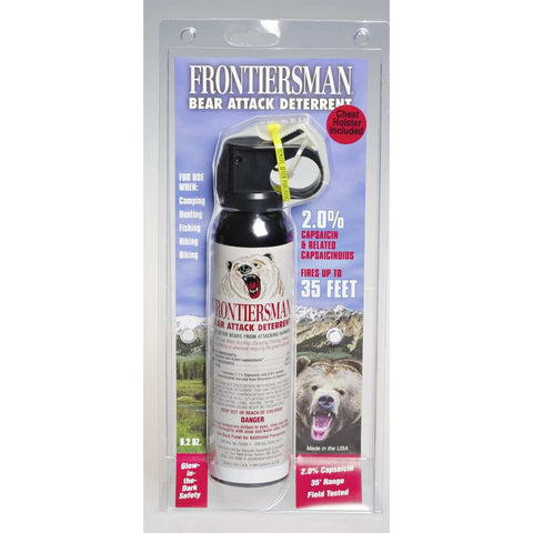 Frontiersman Bear Spray 9.2 Oz With Chest Holster