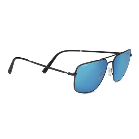 Agostino - Matte Black Frame, Polarized 555nm Blue Ultra-light Mineral Lens