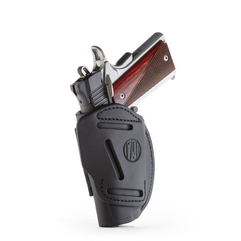"4-way Concealment & Belt Leather Iwb & Owb Holster - Stealth Black - Right Hand - Brn Hp, Colt 1911 3""-4, Kim 1911 3-4, Sig 1911 3-4"