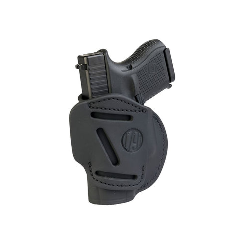 4-way Concealment & Belt Leather Iwb & Owb Holster - Stealth Black - Right Hand - Glock 25-26-27, Ruger Sr9c, S&w Mp9, Spr Xds, Wal Pps