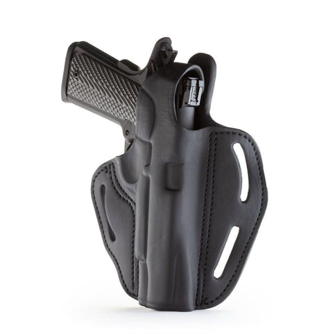 Dual-position Owb Thumb Break C&l Belt Holster - Stealth Black - Right Hand - Browning Hp, Colt 1911 5, Kim 1911 5, Sig 1911 5 W-rail