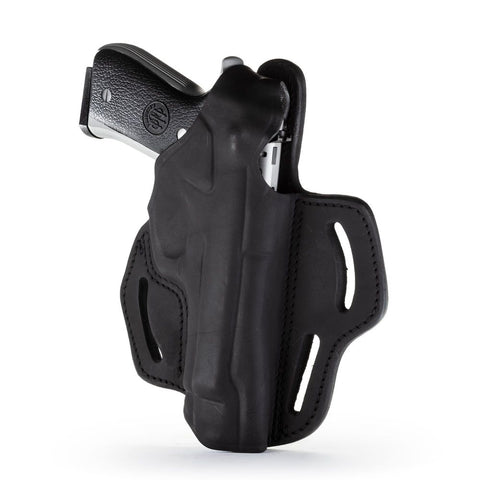 Dual-position Owb Thumb Break Belt Holster - Stealth Black - Right Hand - Ber 92f, Cz 75b, Sp-01, S&w 5609, Sig P228-p229