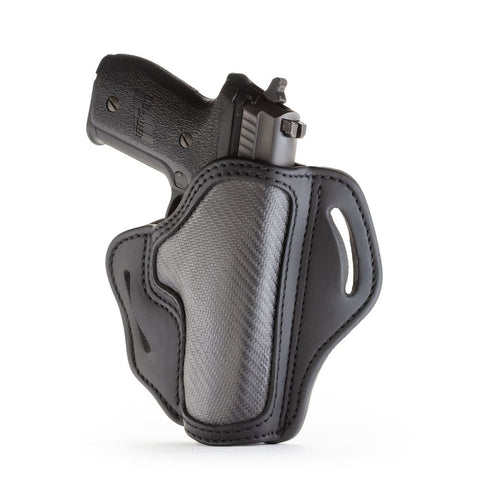 Project Stealth Owb Multi-fit Belt Holster - Carbon Fiber - Right Hand - Ber 92fs, Hk 45, Glk 17-20-21, Rug P95, Sig P220-p226, Wal P99