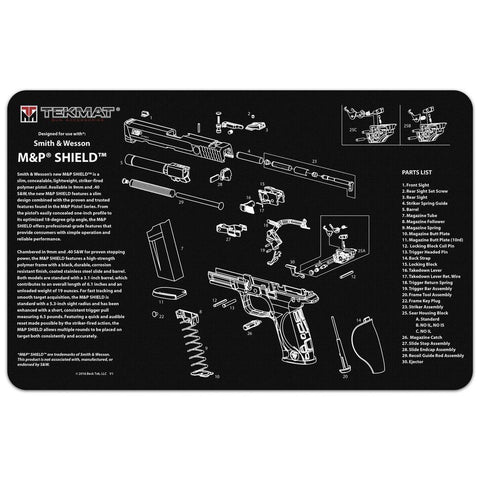 Smith & Wesson M&p Shield Cleaning Mat
