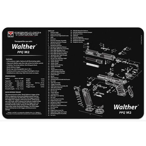 Tekmat Walther Ppq Mod2 - 11x17in