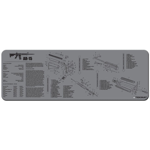 "Ar-15 Cleaning Mat - 12"" X 36"" - Grey"