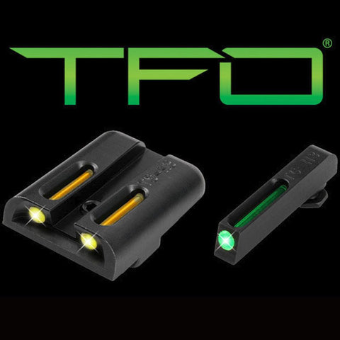 Tfo Tritium-fiber-optic Day-night Sight - Glock Low, Green-yellow
