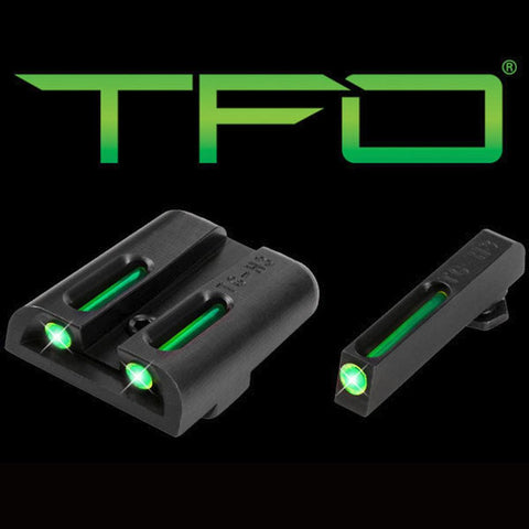 Tfo Tritium-fiber-optic Day-night Sight - Glock Low, Green-green