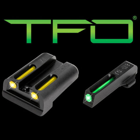 Tfo Tritium-fiber-optic Day-night Sight - Sf Xd, Green-yellow