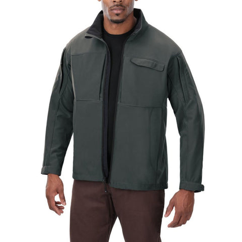 Downrange Softshell Jacket Slate Gry Med