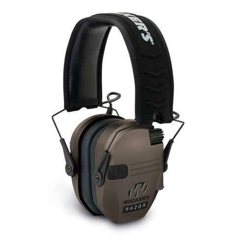 Razor Slim Low Profile Electronic Earmuff - Flat Dark Earth