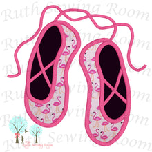 Ballet Slippers Appliques and 2x2 outline Stitch -  Design Instant download Machine Embroidery - This is NOT its a PATCH