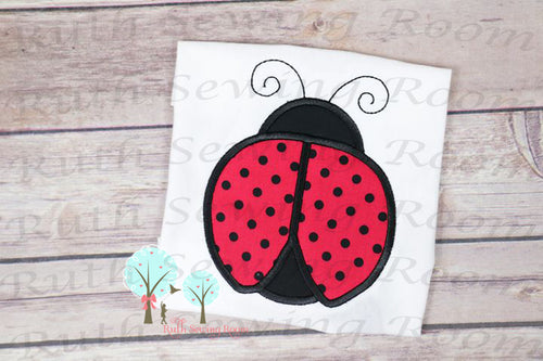 LadyBug - Cute Red and black LadyBug -- Appliques Embroidery Design -- Digitize File